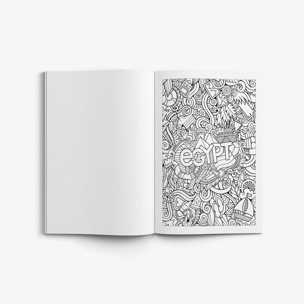 Anti Stress Coloring Book Travel Edition Vol 1-5