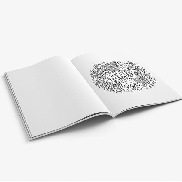 Anti Stress Coloring Book Travel Edition Vol 1-9