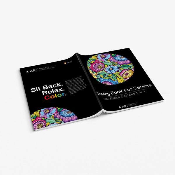 Coloring book for seniors vol 1-3