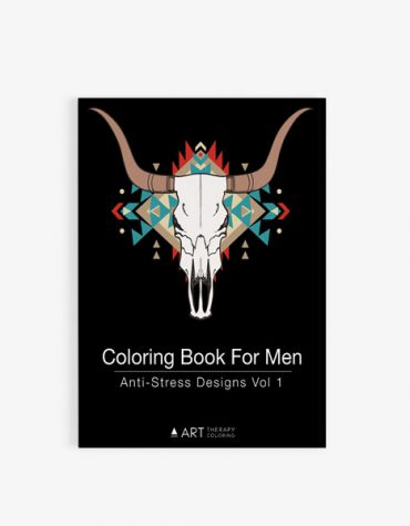 coloring book for men anti stress designs vol 1