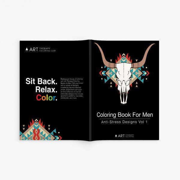 coloring book for men anti stress designs vol 1 -2