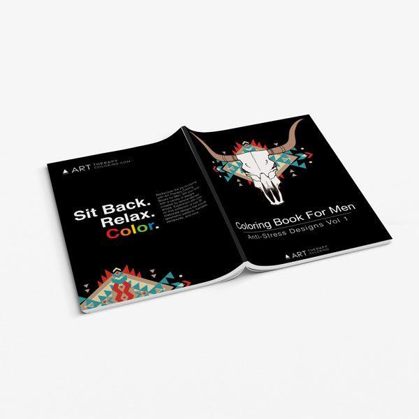 coloring book for men anti stress designs vol 1 -3
