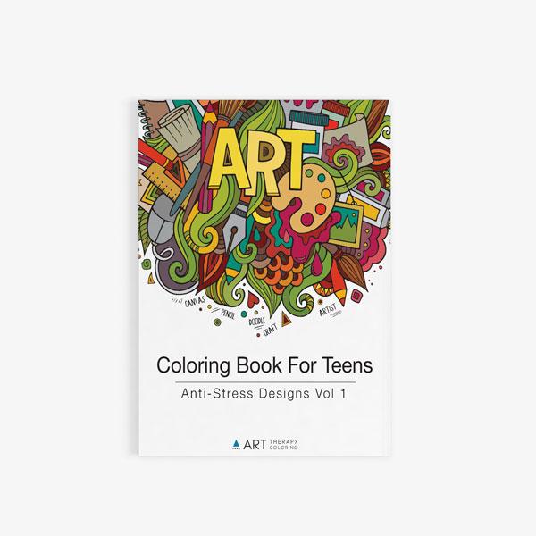 coloring book for teens anti stress designs vol 1