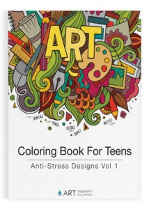 coloring book for teens anti stress designs vol 1 -8