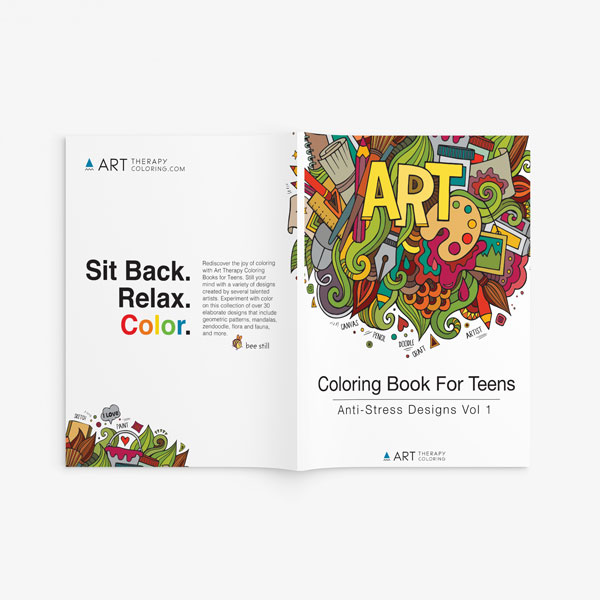 Coloring Book For Teens: Anti-Stress Designs Vol 1 - Art Therapy ...