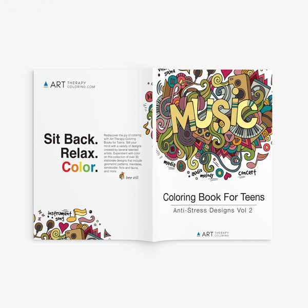 coloring book for teens anti stress designs vol 2 -16