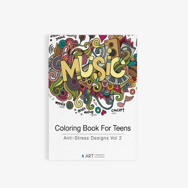 Coloring Book For Teens: Anti-Stress Designs Vol 2 - Art Therapy ...