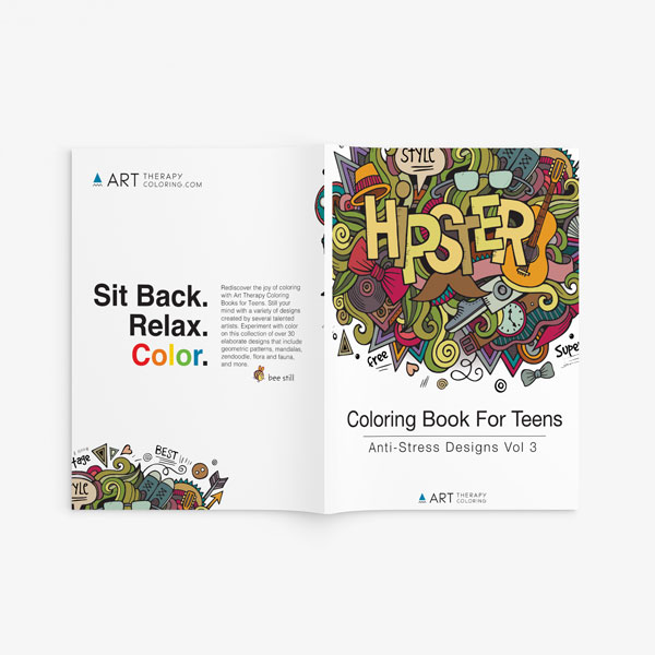 coloring book for teens anti stress designs vol 3-10