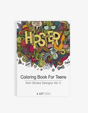 coloring book for teens anti stress designs vol 3-16