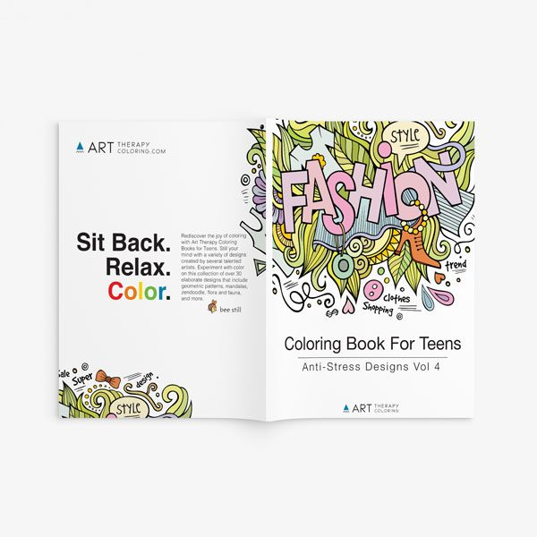 coloring book for teens anti stress designs vol 4-1