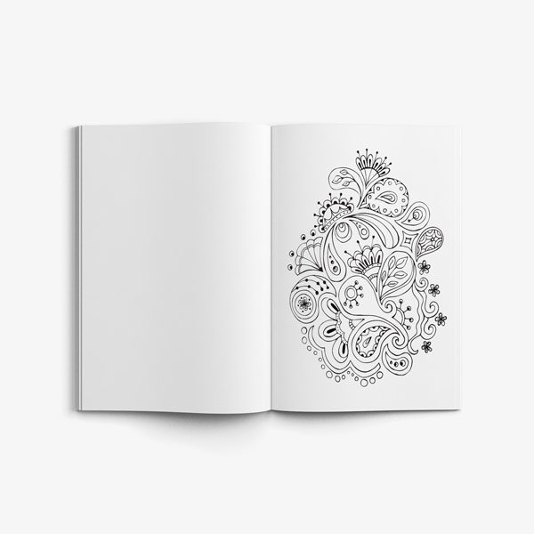 coloring book for teens anti stress designs vol 4-5