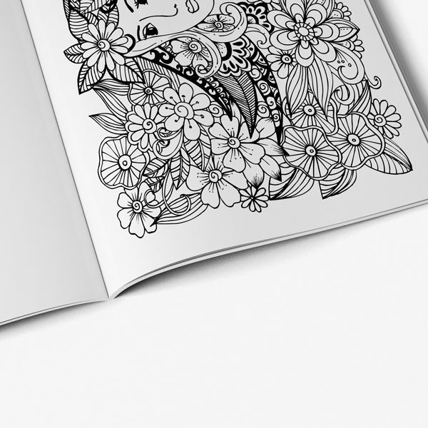 coloring book for teens anti stress designs vol 4-6