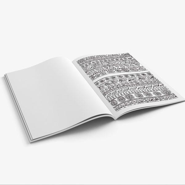 coloring book for teens anti stress designs vol 4-8