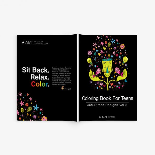 coloring book for teens anti stress designs vol 5-2