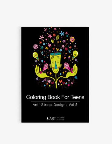 coloring book for teens anti stress designs vol 5