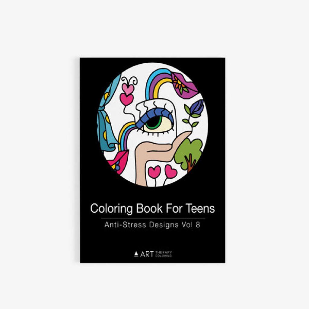coloring book for teens anti stress designs vol 8