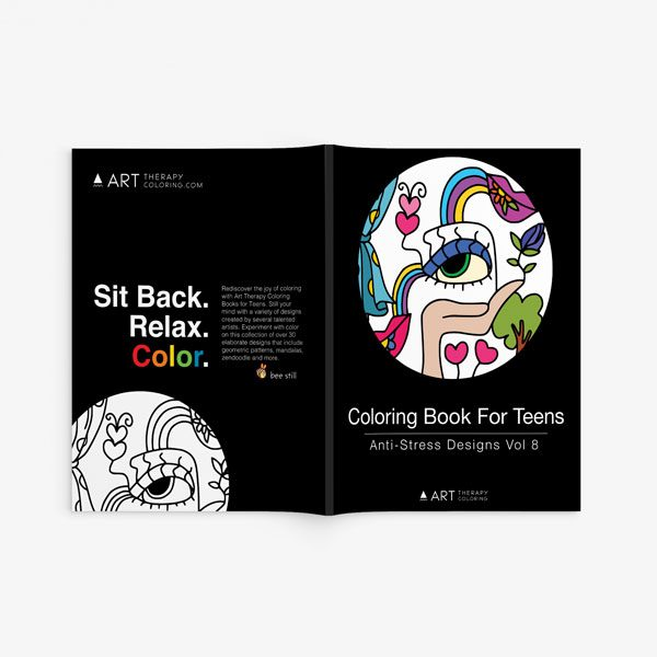 coloring book for teens anti stress designs vol 8-2