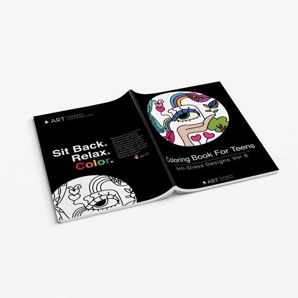 coloring book for teens anti stress designs vol 8-3