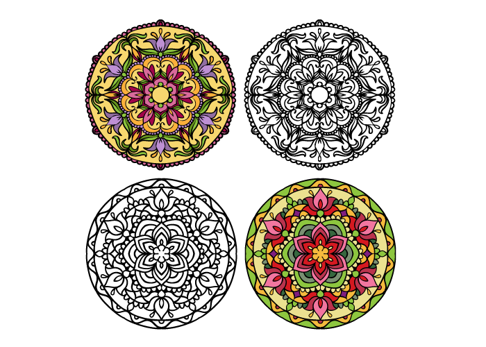 mandala coloring book example