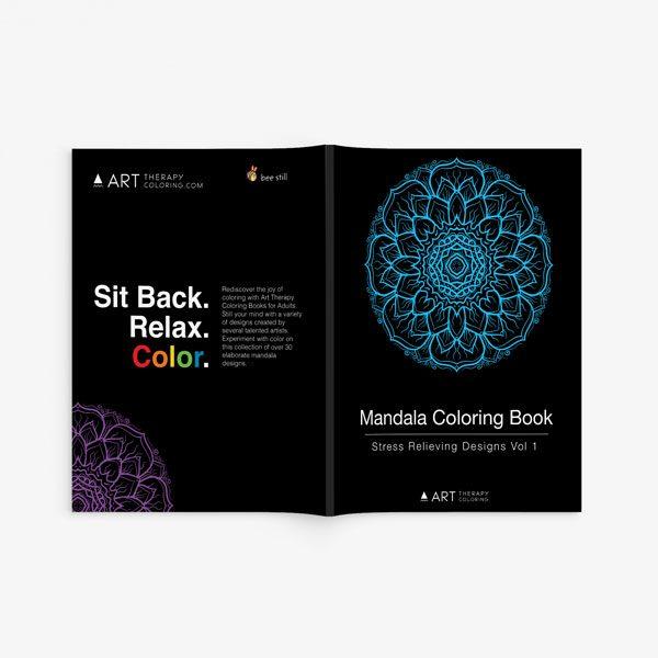 mandala coloring book stress relieving designs vol 1 -2