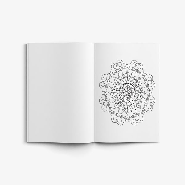 mandala coloring book stress relieving designs vol 1 -5