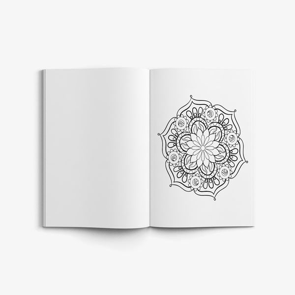 mandala coloring book stress relieving designs vol 1 -6