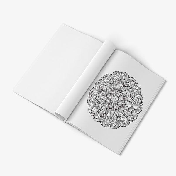 mandala coloring book stress relieving designs vol 1 -8