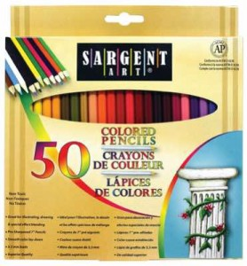 Sargent Art Colored Pencils for adult coloring_1