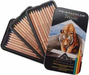 Watercolor Pencils for adult coloring books