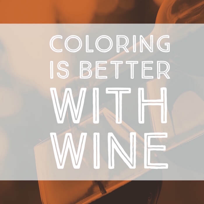 coloring is better with wine, image of wine glasses