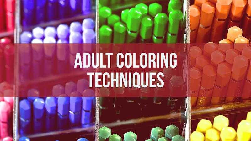 adult coloring techniques
