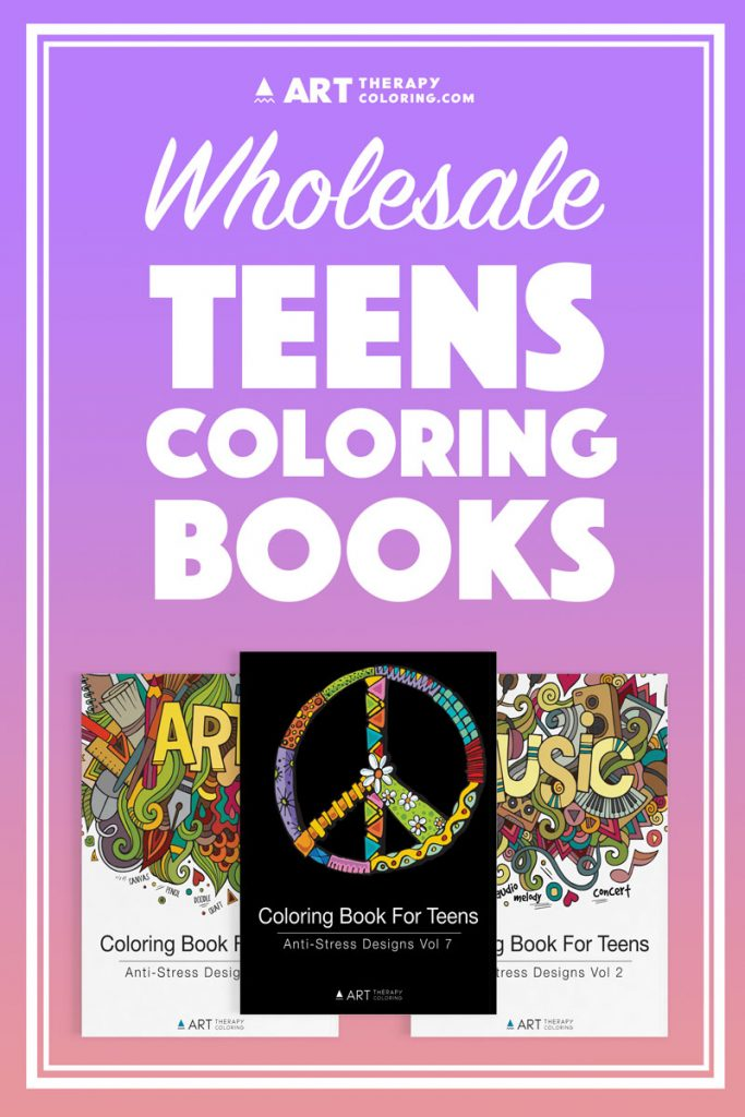 wholesale coloring books for teens