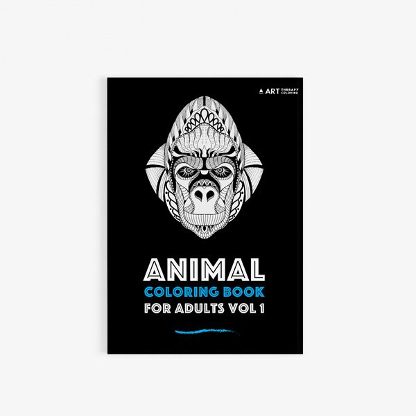 Animal coloring book adults vol 130
