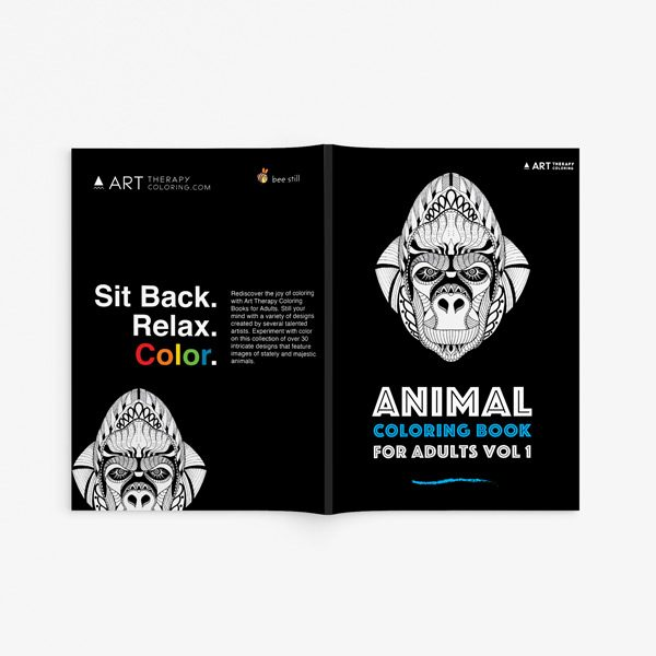 Animal coloring book adults vol 133