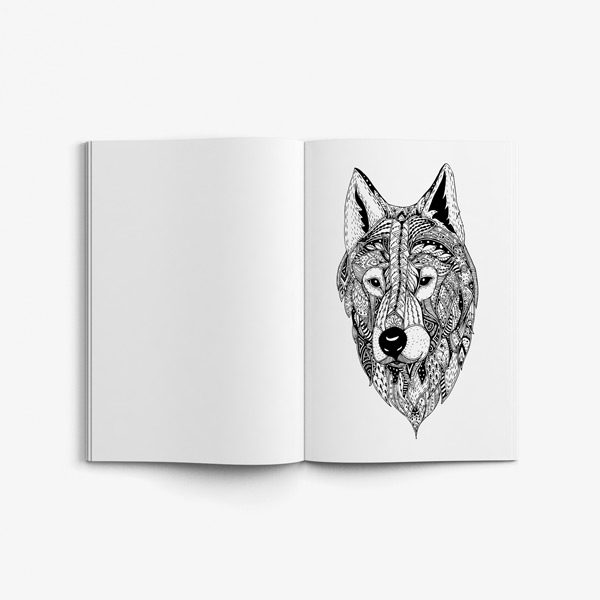 Animal coloring book adults vol 157