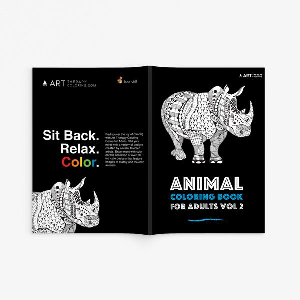 Animal coloring book adults vol 2 33