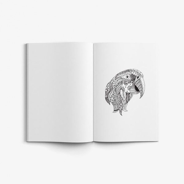 Animal coloring book adults vol 2 37