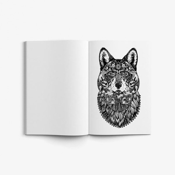 Animal coloring book adults vol 2 49