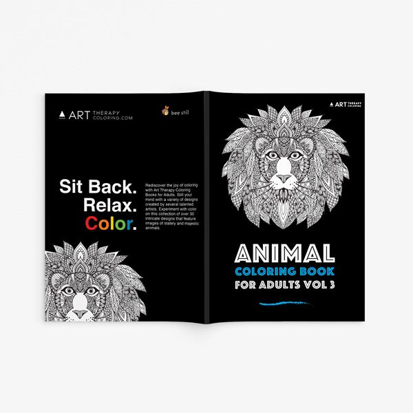 Animal coloring book adults vol 3 33