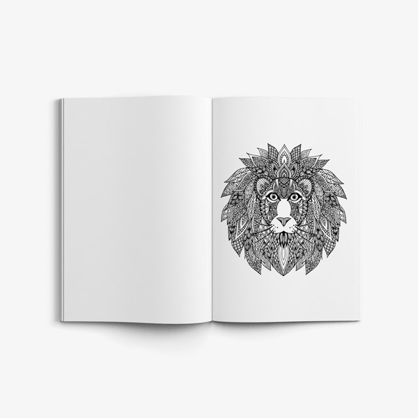 Animal coloring book adults vol 3 37