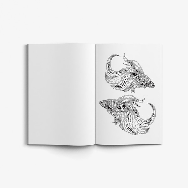 Animal coloring book adults vol 3 45