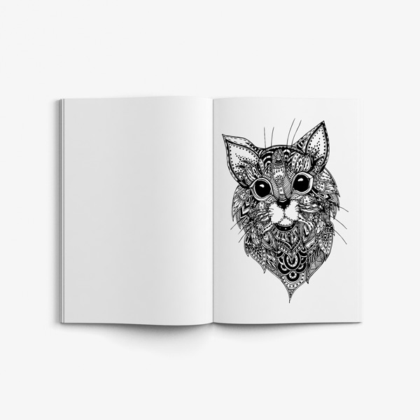 Animal coloring book adults vol 3 49