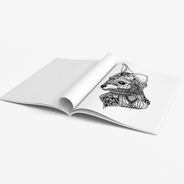 Animal coloring book adults vol 3 51
