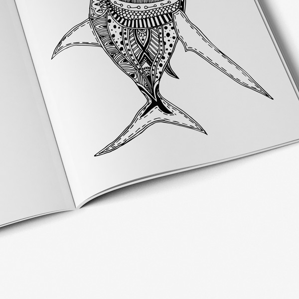 Animal coloring book adults vol 3 57