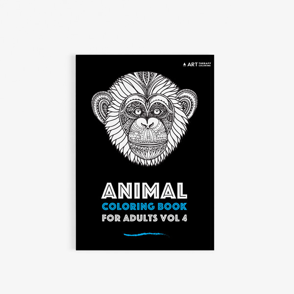 animal coloring book for adults vol 4 - Coloring Books For Seniors