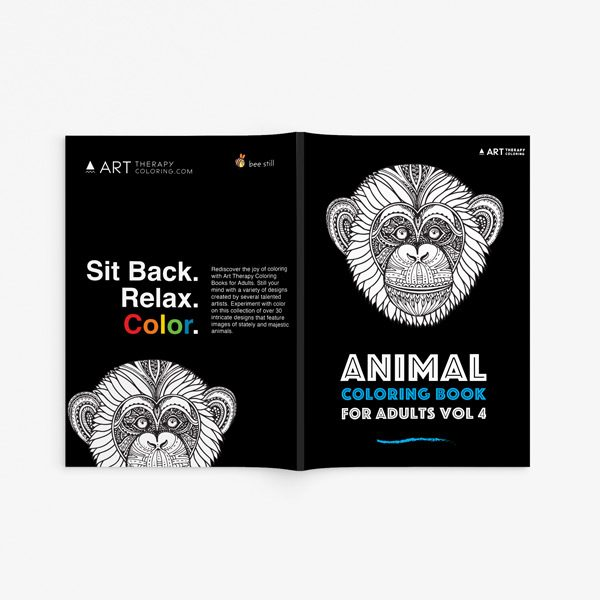 Animal coloring book adults vol 4 33