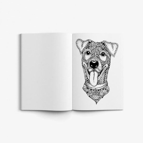 Animal coloring book adults vol 4 49
