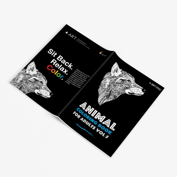 Animal coloring book adults vol 5 32