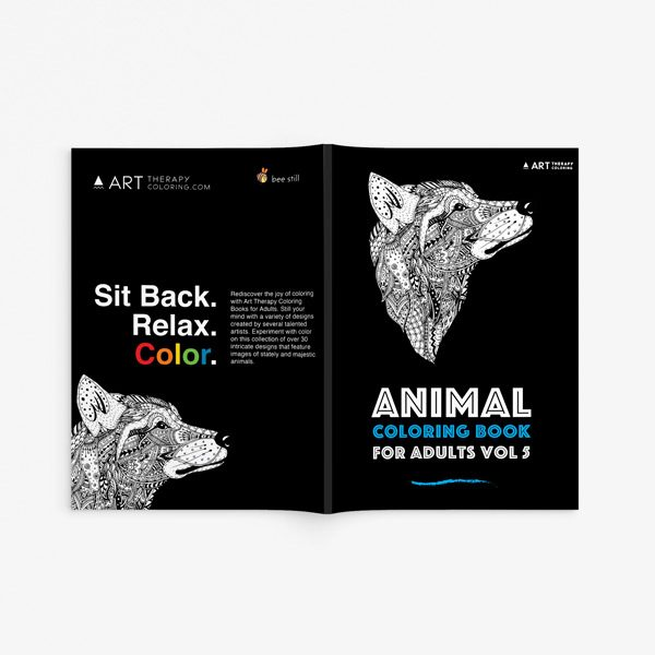 Animal coloring book adults vol 5 33
