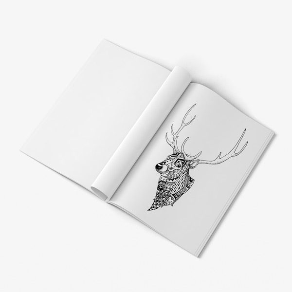Animal coloring book adults vol 5 40